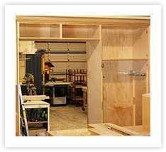 Fabrication of Custom Kitchens and Cabinets