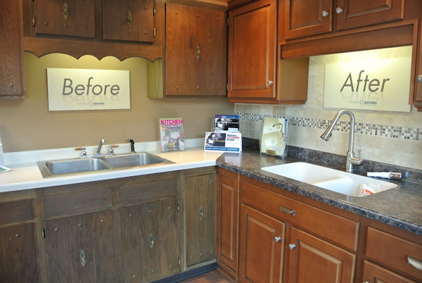 Kitchen Refacing -  before and after